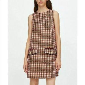 Multicolor tweed dress